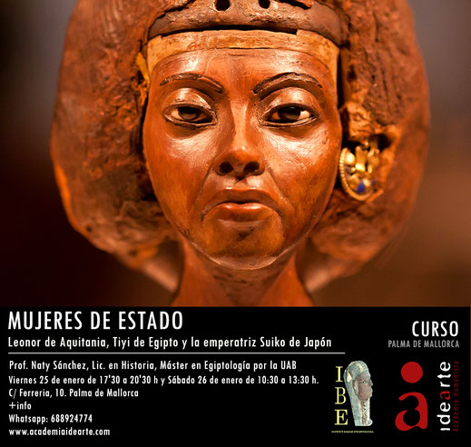 mujeres; política; Estado; reina Tiyi; Leonor de Aquitania; emperatriz Suiko; Palma de Mallorca;