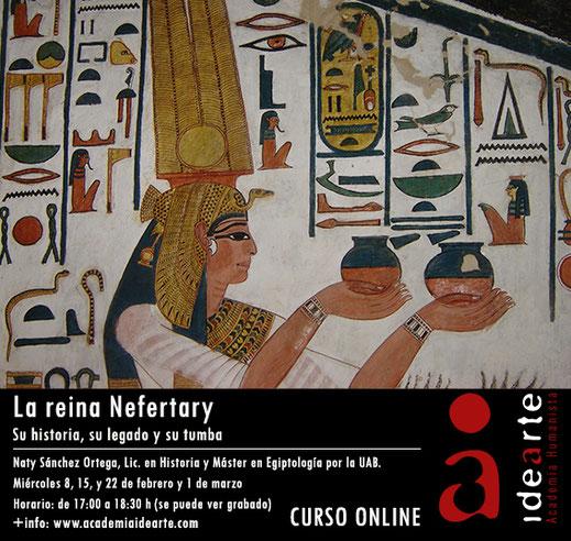 Ahmés Nefertary; cursos Egiptología; Barcelona; Esposa del dios; mujer en Egipto;