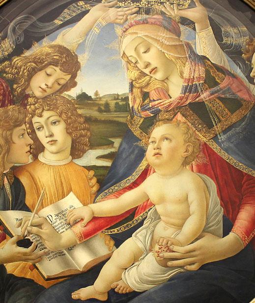 Botticelll; Madonna del Magnificat; Vírgenes; arte; Renacimiento; Barcelona;