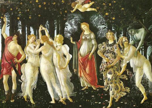Primavera; Botticelli; Florencia; Venus; las Gracias; Flora; Mercurio; cursos; arte; Barcelona; Naty Sánchez Ortega;