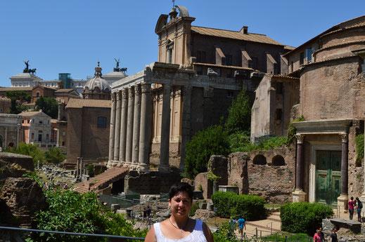 Roma; foro romano; Academia Idearte; Naty Sánchez; templos; arquitectura sagrada;