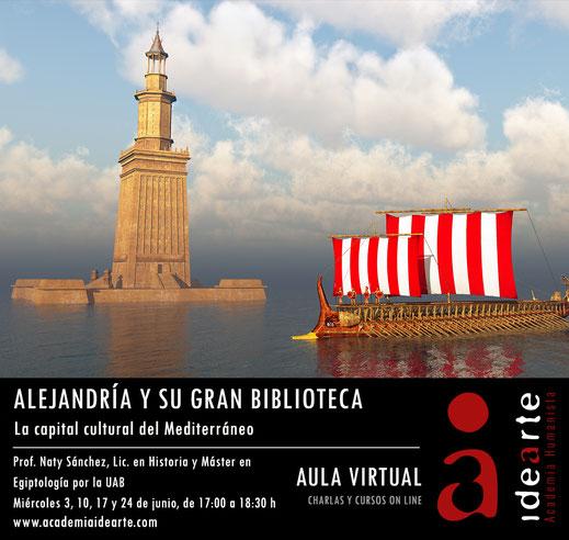 Alejandría; Biblioteca; Ptolomeo; Plotino; filosofía; Museo; centro cultural; Mediterráneo;
