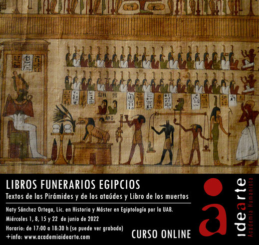 Textos funerarios: Egipto; cursos; egiptología; Palma de Mallorca; pirámides; ataúdes;