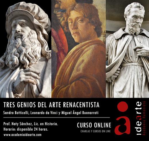cursos on line; arte; historia; Renacimiento; Florencia; Miguel Ángel; Botticelli; Leonardo da Vinci;