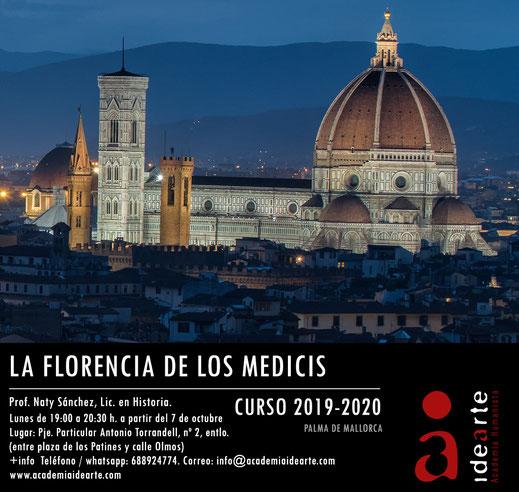 cursos; Palma de Mallorca; arte; historia; Cosme el Viejo; Florencia; Médicis;