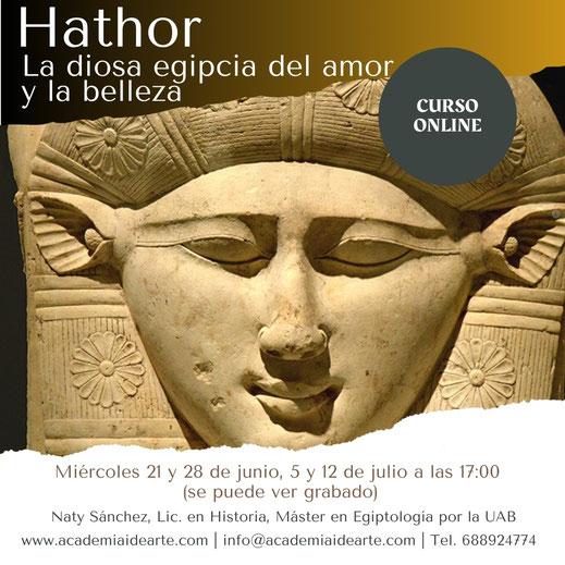 Hathor; Egipto; Egiptología; Denderah; sacerdotisas; historia; arte; religión egipcia; Barcelona; Palma de Mallorca; Academia Idearte;