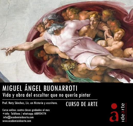 Miguel Ángel; David; cursos; arte; Palma de Mallorca; escultura; Capilla Sixtina; Florencia;