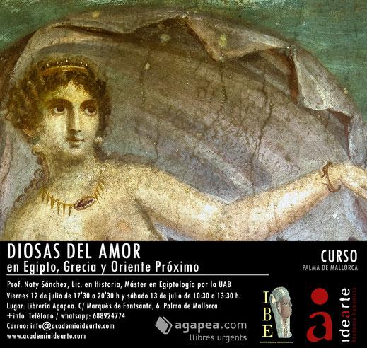 Cursos de verano en Barcelona; diosas del amor; Ishtar; Afrodita; Hathor; Innana; Astarté;