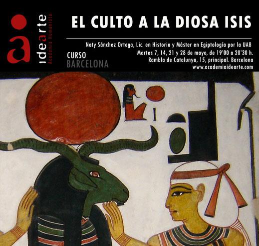 Isis; diosa; Egipto; egiptología; cursos; Barcelona; Naty Sánchez Ortega;