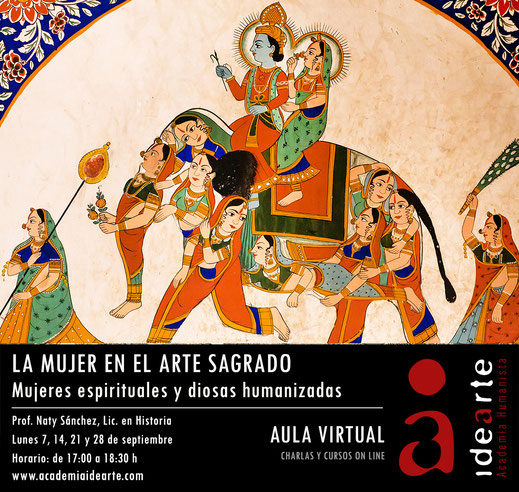 mujer en el arte; espiritualidad; arte sagrado; cursos; Online; símbolos;
