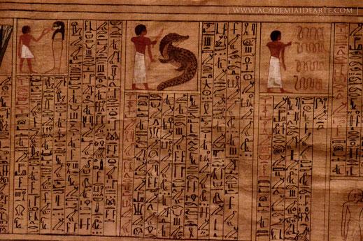 papiro; Egipto; Libro de los muertos; Libro de la salida al Día; Museo Egipcio de Turín; Kha y Meryl;
