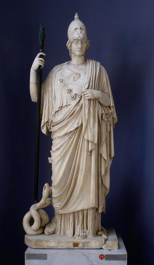 Atenea; Minerva; mitología griega; cursos; Barcelona; arte; arquitectura; historia de las religiones;
