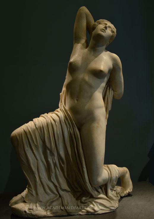 Niobe; nióbide; mitología griega; arte; Museo Nacional Romano; escultura; mármol; Academia Humanista Idearte;