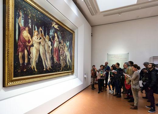 Uffizi; Florencia; Primavera; Botticelli; Museos; arte; pintura; cursos;