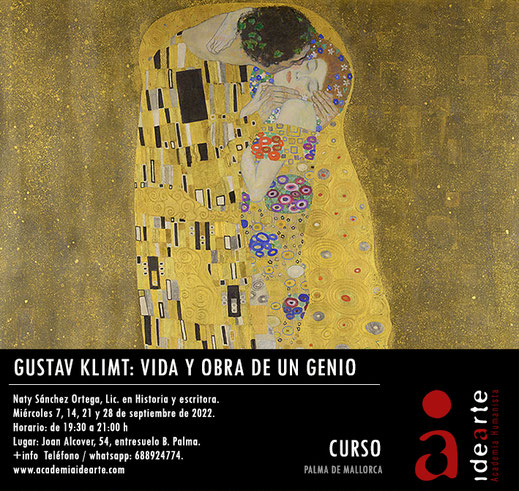 Gustav Klimt; arte; cursos online; El beso;