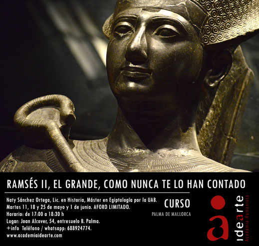 Ramsés II; cursos; Barcelona; historia del arte; cursos de arte; Susana Alegre;