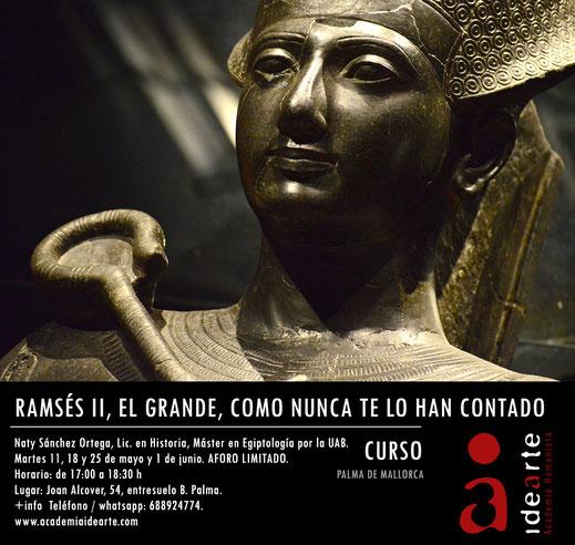 Ramsés II; cursos; egiptología; Egipto; historia; arte;