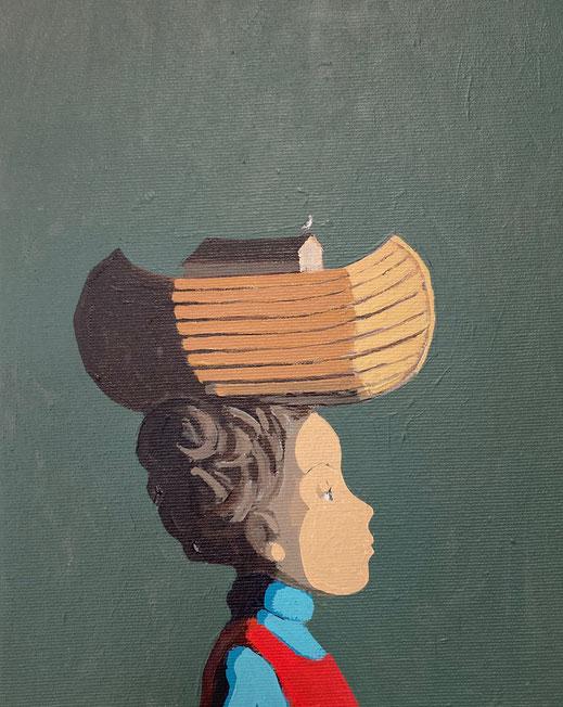 ark - Acryl auf Leinwand, 30x24cm, 2021