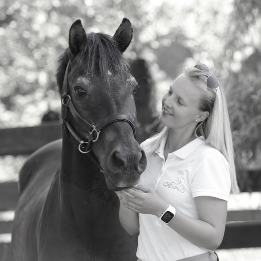 """Founder and product developer of CXEVALO Horse Care Products Marie-Christine with her New Forest Pony """"Merlin""""."""