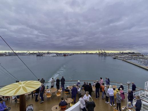 Kurz nach dem Ablegen in Cádiz