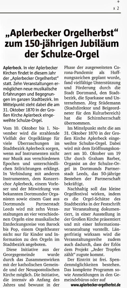 Ruhr Nachrichten, 23.09.2020