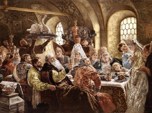 Боярский свадебный пир в 17 веке, Константин Маковский