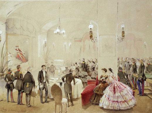 Александр II с придворными в Арсенальном зале Гатчинского дворца