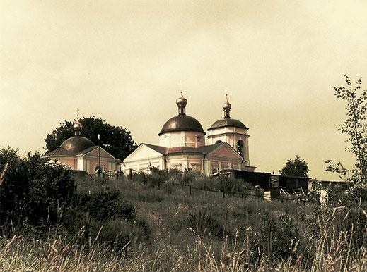 Колокольня церкви Иконы Божией Матери Знамение в Знаменском Одинцовского района Московской области.