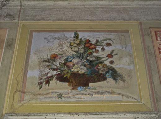 Фрагмент росписи гостиной, усадьба Петровское.