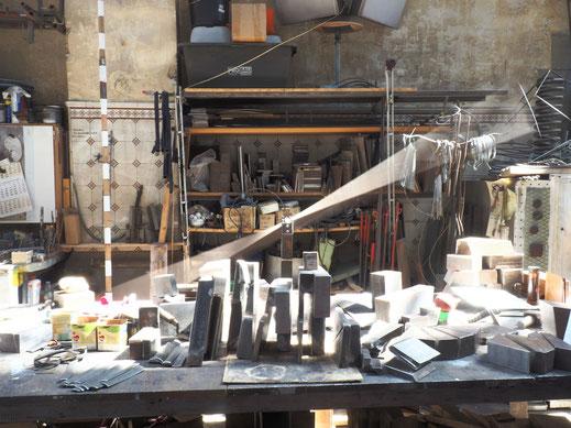 Balance-Objekt aus Stahl - Atelier im Ewerk in Freiburg