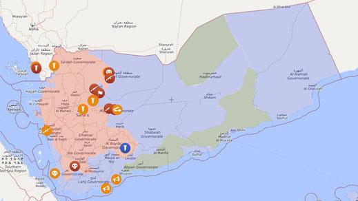 Krieg im Jemen - Livemap 01.02.2020