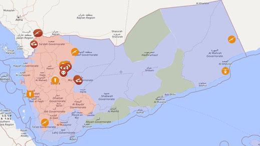 Krieg im Jemen - Livemap 29.02.2020
