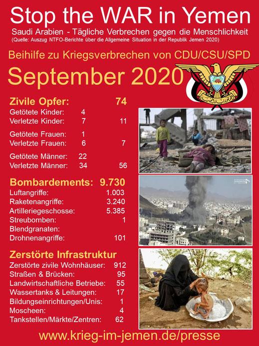 Stop the WAR in Yemen - September 2020
