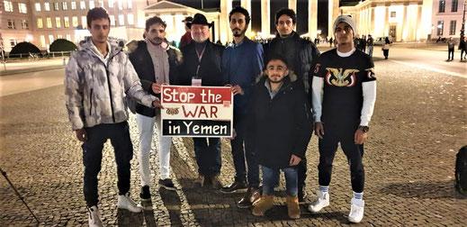 Jugoslawien und Jemen 25.03.2019 in Berlin - Sonder-Mahnwache für den Frieden