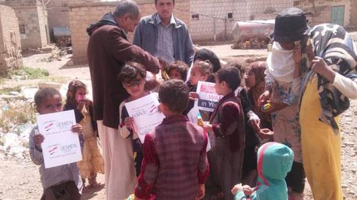Dezember 2018 - Wheinachtsspendenaktion von Yemen Friends und Stop the WAR in Yemen