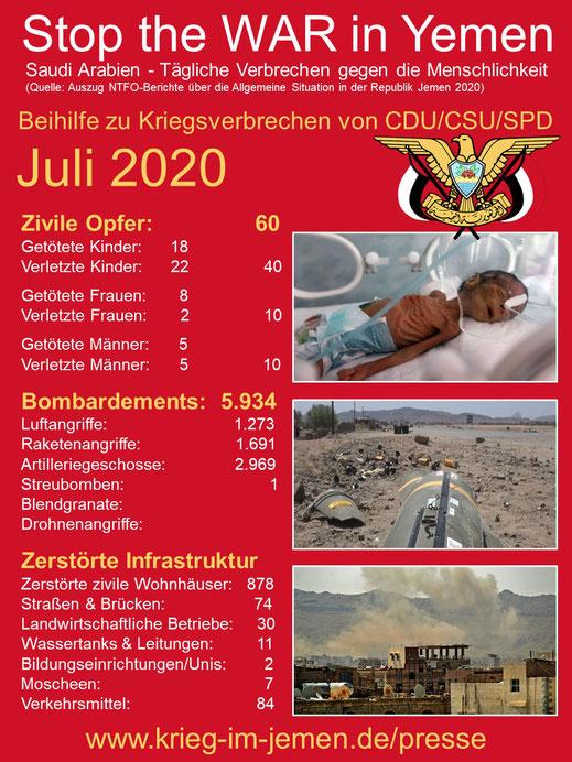 Beihilfe zu Kriegsverbrechen von CDU, CSU und SPD - Juli 2020