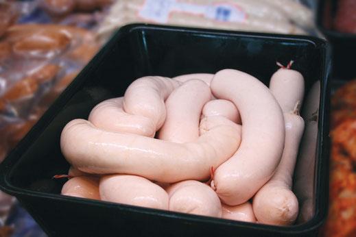 rohe schlesische Weißwurst