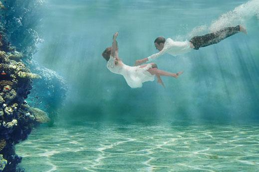 Unterwasserhochzeit als Pre- oder After Wedding Shooting