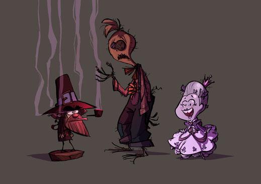 Charaktere Funzel, Rübe und der ganz ganz böse Plan, erstellt von Heiko Hentschel für Sarah M. Kempen