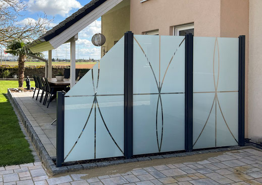 Glaszaun kaufen für Garten & Terrasse