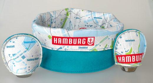 Hamburger Brotkorb mit Stadtplan