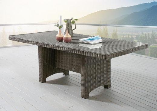 Beistelltisch Holz Polyrattan Kunststoff Edelstahl Aluminium Esstisch