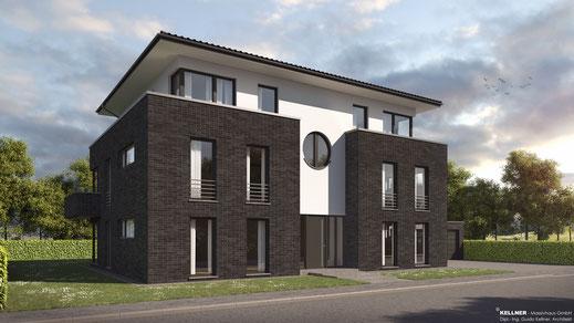 Entwurfsvorschlag - Massivhaus - Merhfamilienhaus