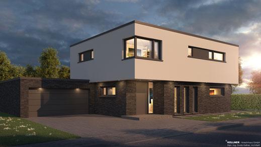 Entwurfsvorschlag - Massivhaus -Flachdach