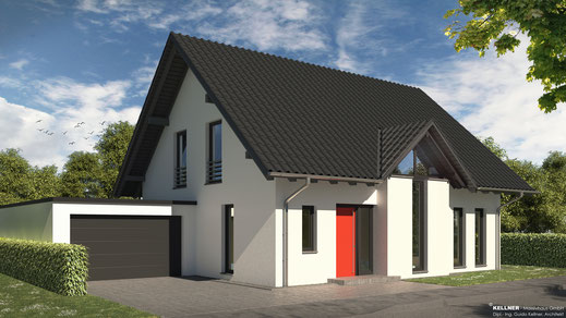 Entwurfsvorschlag - Massivhaus - Panoramagiebel