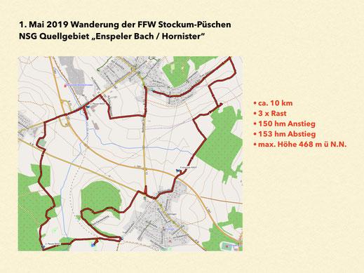 1. Mai 2019 Mai-Wanderung der FFW Stockum.-Püschen