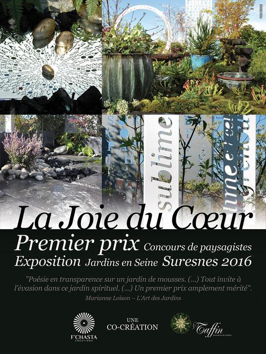 Affiche. Prix de la ville de Suresnes. Jardins en seine 2016