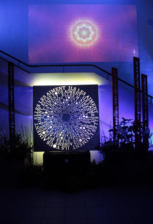 Feu, atelier-jardin f'chasta création, franck chastanier, mandala du verbe aimer