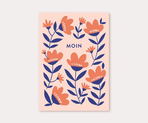 Postkarte Lotta Langrock – Hygge, Skandinavien, Papeterie, Deko, Blumen, Fahrrad