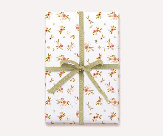 Geschenkpapier Lotta Langrock – Blumen, Hygge, Skandinavien, Rosa, Mädchen, Papeterie, nachhaltig